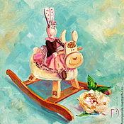 Картины и панно ручной работы. Ярмарка Мастеров - ручная работа Картина маслом на холсте. Любимые игрушки.. Handmade.