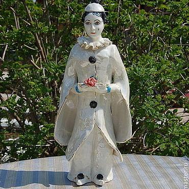 Для дома и интерьера ручной работы. Ярмарка Мастеров - ручная работа Пьеро.Фарфоровая скульптура. Handmade.
