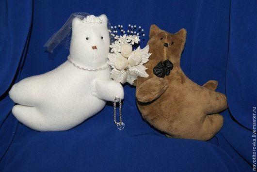 Куклы Тильды ручной работы. Ярмарка Мастеров - ручная работа. Купить Свадебные коты. Мягкая игрушка. Handmade. Коты