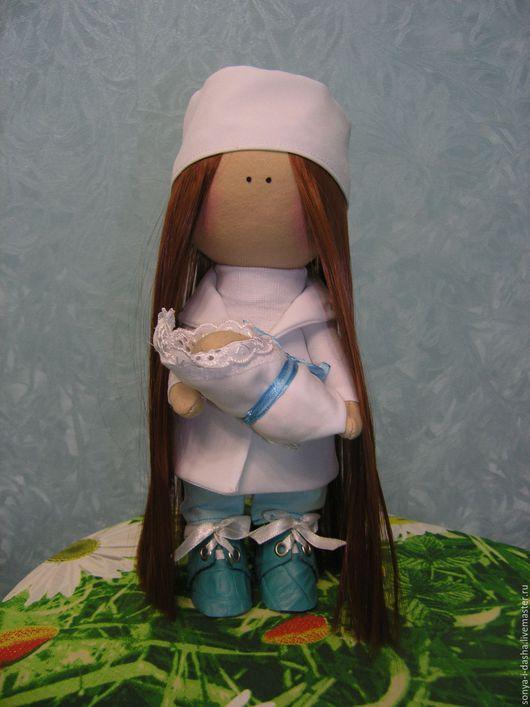 Коллекционные куклы ручной работы. Ярмарка Мастеров - ручная работа. Купить Куколка текстильная Медсестра. Handmade. Морская волна, врач