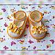 """Для новорожденных, ручной работы. Ярмарка Мастеров - ручная работа. Купить Пинетки-туфельки """"Солнечный день"""". Handmade. Желтый"""