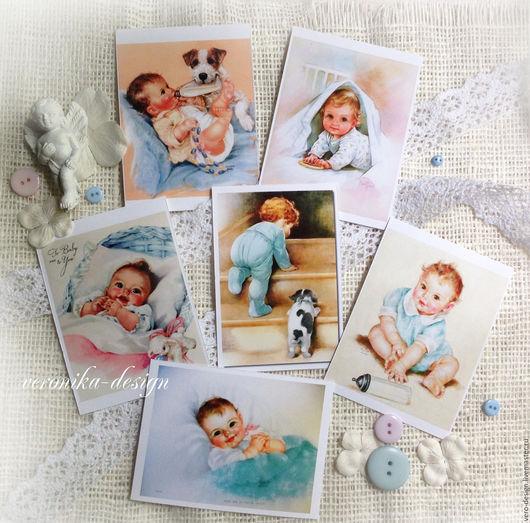 """Открытки и скрапбукинг ручной работы. Ярмарка Мастеров - ручная работа. Купить Картинки для детских открыток, фотоальбомов """"Baby"""". Handmade. малыши"""