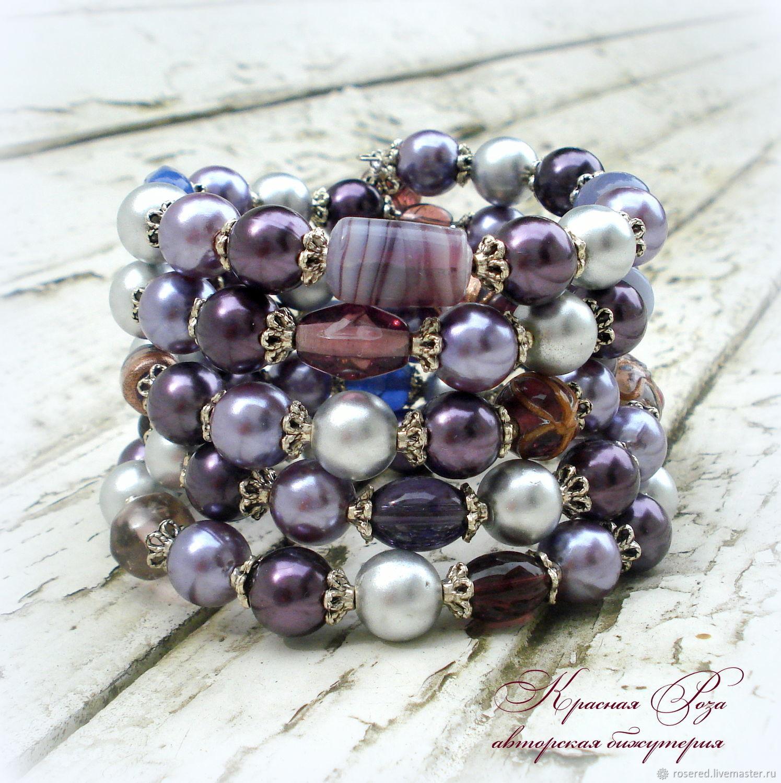 """Браслет """"Фиолетовое счастье"""", Bead bracelet, Stupino,  Фото №1"""