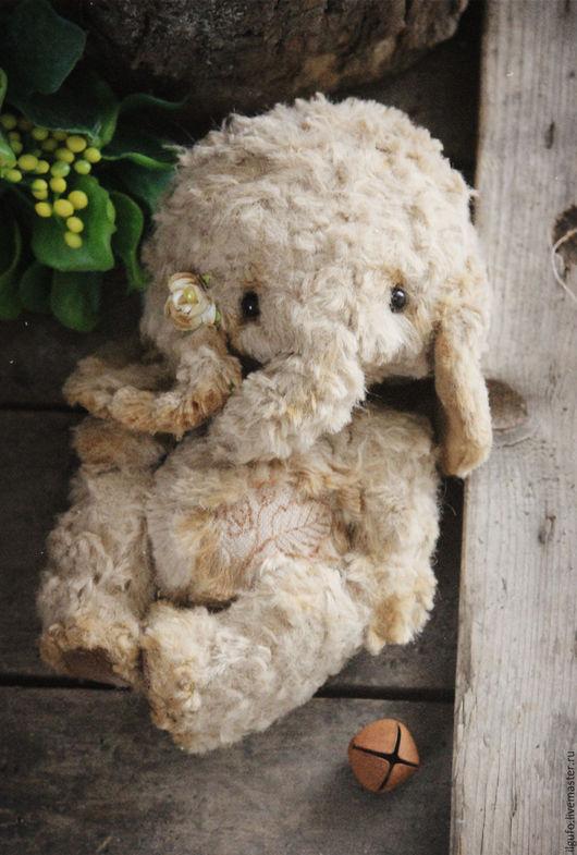 Мишки Тедди ручной работы. Ярмарка Мастеров - ручная работа. Купить Elly. авторский тедди слон ручной работы. Handmade.