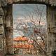 Авторская фотокартина Осенний пейзаж на стену, вид из окна крепости древнейшего города Черногории Старый Бар.