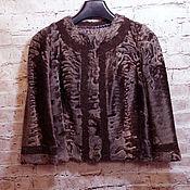 Одежда ручной работы. Ярмарка Мастеров - ручная работа Жакет из афганского каракуля. Handmade.