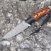 Сувениры и подарки handmade. Livemaster - original item Hunting knife made of Damascus steel
