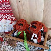 Подарки к праздникам ручной работы. Ярмарка Мастеров - ручная работа Вязаная собака Амигуруми  символ 2018. Handmade.
