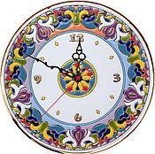 Для дома и интерьера ручной работы. Ярмарка Мастеров - ручная работа часы керамические.. Handmade.