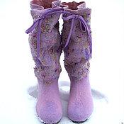 Обувь ручной работы. Ярмарка Мастеров - ручная работа Войлочные сапоги Lilac boho. Handmade.