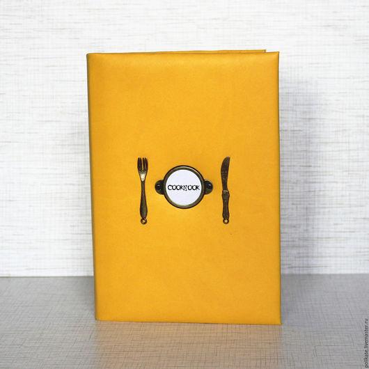 """Кулинарные книги ручной работы. Ярмарка Мастеров - ручная работа. Купить Кулинарная книга """" CookBook"""". Handmade. Оранжевый, москва"""