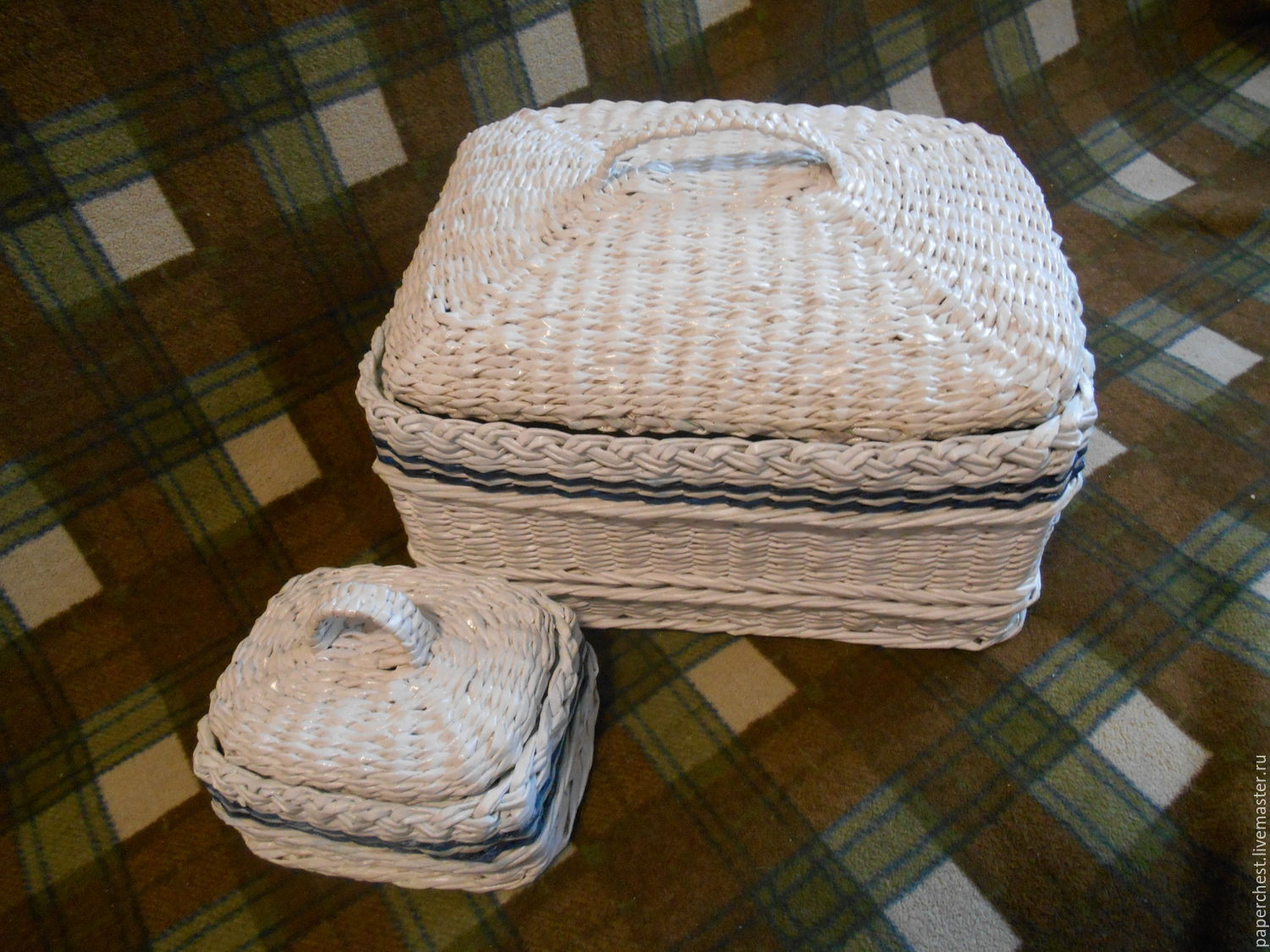 Wicker boxes in a marine style, Storage Box, Moscow,  Фото №1