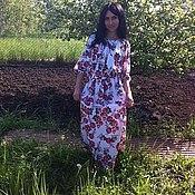 Одежда ручной работы. Ярмарка Мастеров - ручная работа Платье длинное в пол летнее.. Handmade.