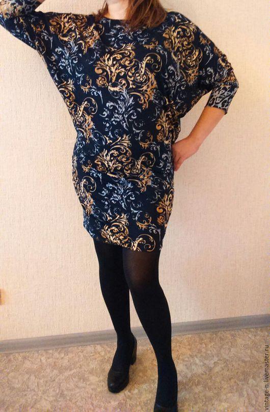 Платья ручной работы. Ярмарка Мастеров - ручная работа. Купить Платье. Handmade. Тёмно-синий, летучая мышь, платье повседневное