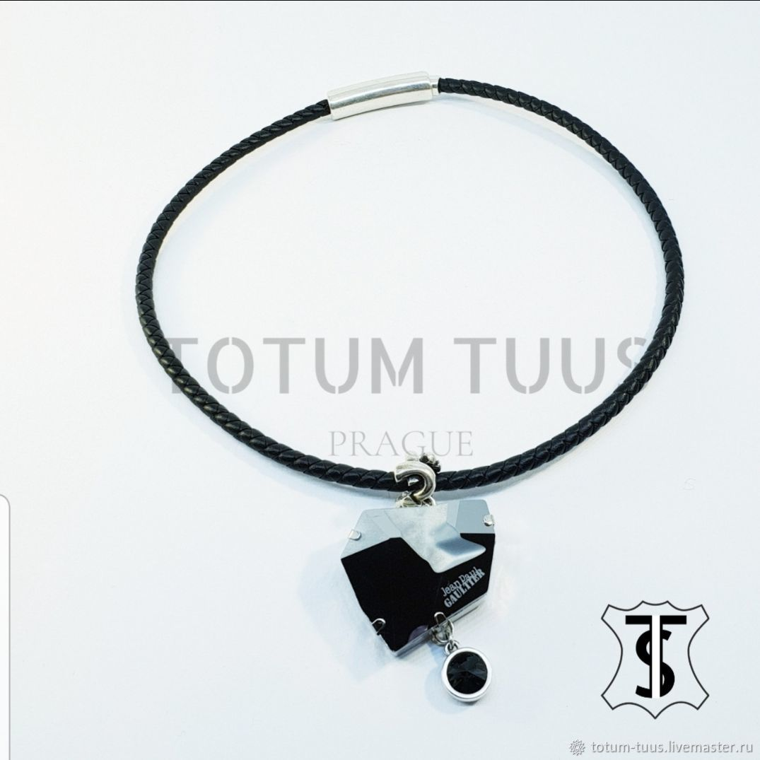 Necklace on a leather cord Art:18000101, Necklace, Prague,  Фото №1