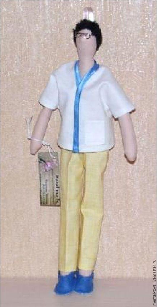 Портретные куклы ручной работы. Ярмарка Мастеров - ручная работа. Купить Тильда Массажист. Handmade. Комбинированный, подарок, массаж