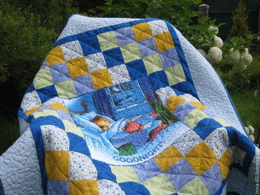 Пледы и одеяла ручной работы. Ярмарка Мастеров - ручная работа. Купить Лоскутное детское одеялко Спокойной ночи,малыши. Handmade.