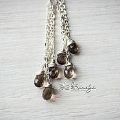 Украшения handmade. Livemaster - original item Long silver earrings Topaz