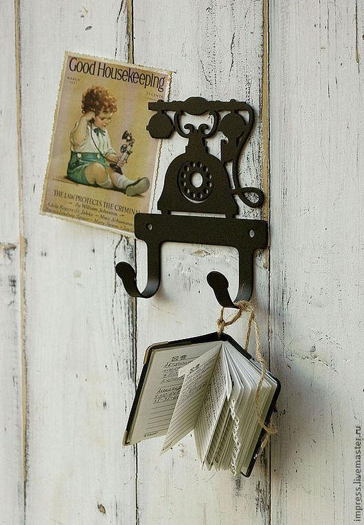 Комплекты аксессуаров ручной работы. Ярмарка Мастеров - ручная работа. Купить Крючки металлические Телефон. Handmade. Чёрно-белый, вешалка