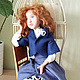 Коллекционные куклы ручной работы. Лаура. Елена (DollyPolly). Интернет-магазин Ярмарка Мастеров. Интерьерная кукла, волосы натуральные, фетр