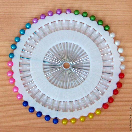 Шитье ручной работы. Ярмарка Мастеров - ручная работа. Купить 0749 Булавки портновские цветные для шитья 40 штук. Handmade.