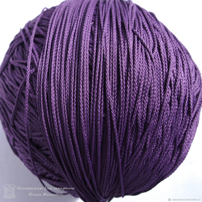 Шнур 1,5 мм фиолетовый полиэфирный, Шнуры, Нижний Новгород,  Фото №1