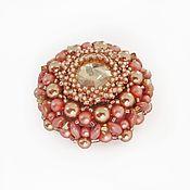 handmade. Livemaster - original item Marquis brooch with Swarovski crystals. Handmade.