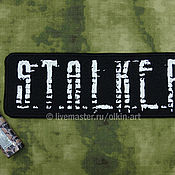 Субкультуры handmade. Livemaster - original item stripe back strap S. T. A. L. K. E. R. , the ragged font (black). Handmade.