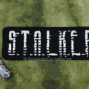 Субкультуры ручной работы. Ярмарка Мастеров - ручная работа нашивка наспинная S.T.A.L.K.E.R. , рваным шрифтом, (чёрная). Handmade.