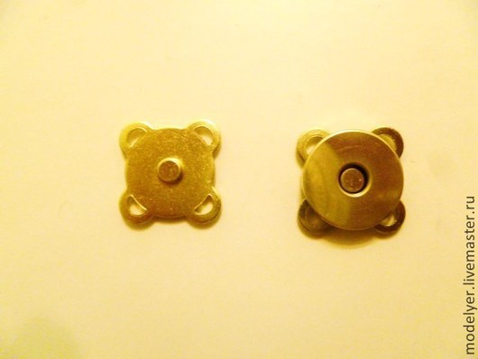 Шитье ручной работы. Ярмарка Мастеров - ручная работа. Купить Застежка- магнит пришивная цвет золото. Handmade. Золотой
