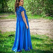 """Одежда ручной работы. Ярмарка Мастеров - ручная работа Атласное платье """"Королевский синий"""". Handmade."""
