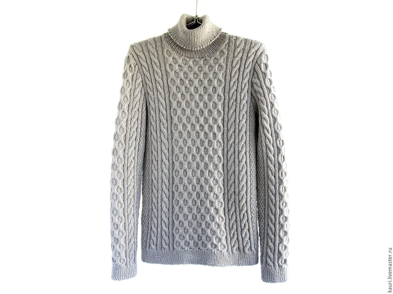 Мужской свитер из мериноса ручной работы Гейнсборо ...