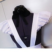 Одежда handmade. Livemaster - original item dresses: The school`s white apron