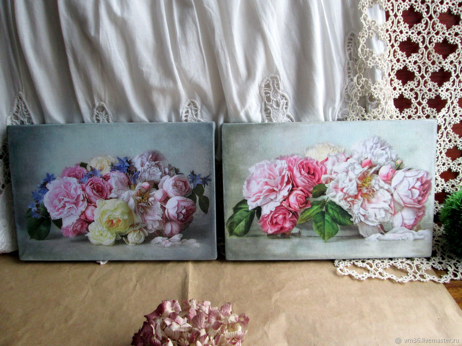 Two interior murals on canvas Tenderness, Pictures, Voronezh,  Фото №1