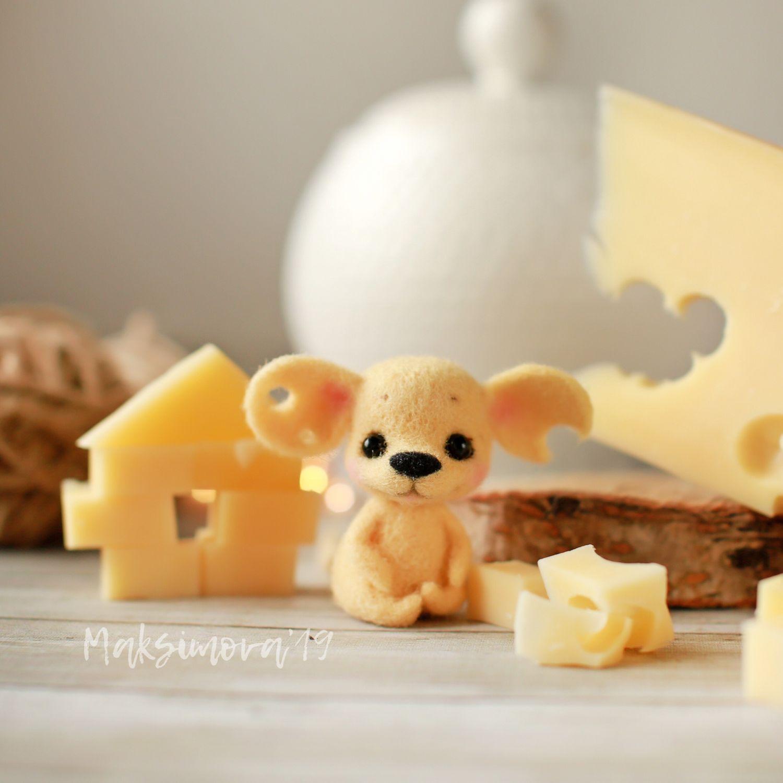 Полумышка «Сыр» 4,5см: Подарок на Новый год, Мини фигурки и статуэтки, Санкт-Петербург,  Фото №1