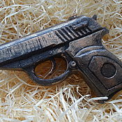 Сувениры и подарки handmade. Livemaster - original item Fun: Soap Makarov pistol - a gift for the man in gift box. Handmade.