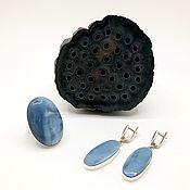 Комплекты украшений ручной работы. Ярмарка Мастеров - ручная работа Комплект с голубым опалом. Handmade.