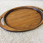 Подносы ручной работы. Ярмарка Мастеров - ручная работа Поднос деревянный. Handmade.