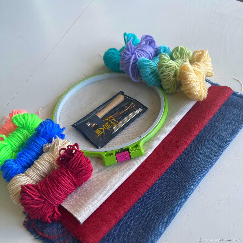Набор для ковровой вышивки новичку, Инструменты для вышивки, Москва,  Фото №1
