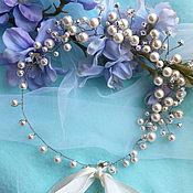 Свадебный салон ручной работы. Ярмарка Мастеров - ручная работа Украшение для невесы с жемчугом. Handmade.