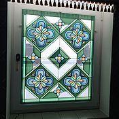 Для дома и интерьера ручной работы. Ярмарка Мастеров - ручная работа Витраж для окна. Handmade.