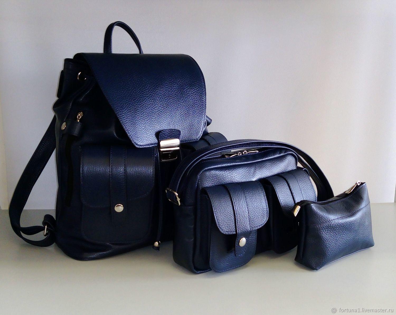 Backpack, handbag, cosmetic bag leather, Backpacks, St. Petersburg,  Фото №1