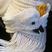 Аксессуары handmade. Livemaster - original item SCARF knitted with a PARROT serosort. Handmade.