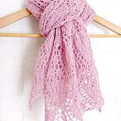 Аксессуары handmade. Livemaster - original item Knit tippet Alpaca scarf knitting needles. Handmade.