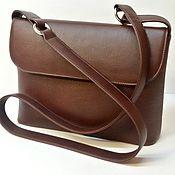 Сумки и аксессуары handmade. Livemaster - original item Lightweight carry bag with two strap myself. from cognac Italian genuine leather.. Handmade.