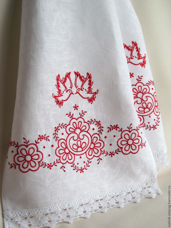 Рушники вышивка машинная