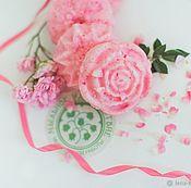Косметика ручной работы handmade. Livemaster - original item Solid shampoo with collagen elastin rose and argan pink. Handmade.