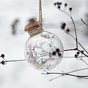 """Подарки к праздникам ручной работы. Ярмарка Мастеров - ручная работа Ёлочный шар """"Счастливый"""", подарок со смыслом. Handmade."""