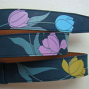 Аксессуары handmade. Livemaster - original item TULIPS strap leather. Handmade.
