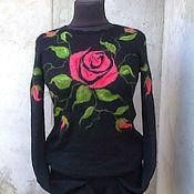 Одежда ручной работы. Ярмарка Мастеров - ручная работа свитерок вязаный  кид-мохер. Handmade.